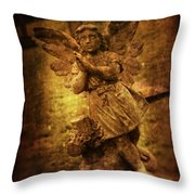 Statue Of Angel Throw Pillow by Amanda Elwell