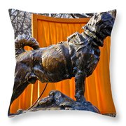Statue Of Balto In Nyc Central Park Throw Pillow