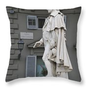 Statue Of Carlo Goldoni Throw Pillow