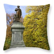 Statue Of Daniel Webster - Central Park Throw Pillow