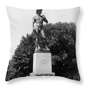 Statue Of David Delaware Park Buffalo Ny Throw Pillow