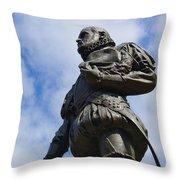 Statue Of Don Pedro Menendez De Aviles Throw Pillow