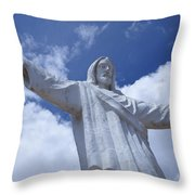 Statue Of Jesus Christ In Cusco Throw Pillow