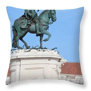 Statue Of King Jose I In Lisbon Throw Pillow