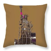 Statue Of Liberty Being Built 1876-1881 Paris Collage Pierre Petit                     Throw Pillow