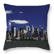 Statue Of Liberty Ferry 2 Throw Pillow