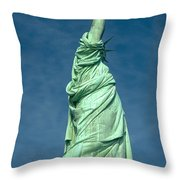 Statue Of Liberty Hdr Throw Pillow
