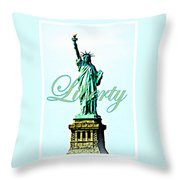 Statue Of Liberty Throw Pillow by The Creative Minds Art and Photography