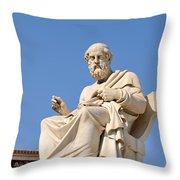 Statue Of Plato Throw Pillow