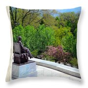 Statue Of President Lincoln Throw Pillow