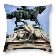 Statue Of Prince Eugene Of Savoy In Budapest Throw Pillow