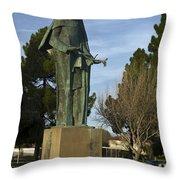 Statue Of Saint Clare Santa Clara Calfiornia Throw Pillow
