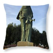 Statue Of Saint Clare Santa Clara California Throw Pillow