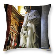 Statue Of St Stephen's Throw Pillow