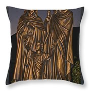 Statue Of The Holy Family  Throw Pillow