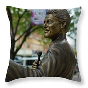Statue Of Us President Bill Clinton Throw Pillow