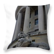 Statue Outside Of Federal Trade Commission Throw Pillow