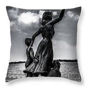 Statue St Clair Mi Throw Pillow