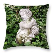 Statue Watercolor Effect Throw Pillow