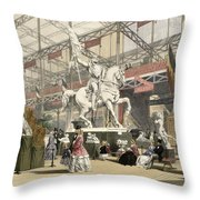 Statues In The Belgium Section Throw Pillow