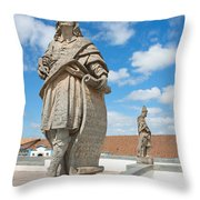 Statues Of Prophets Throw Pillow
