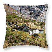 Stavbergsetra - Cowherd Huts Throw Pillow
