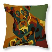 Stay Brown Throw Pillow
