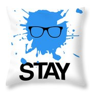 Stay Focused Splatter Poster 2 Throw Pillow