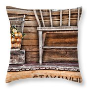 Stayawhile Throw Pillow by Diana Sainz
