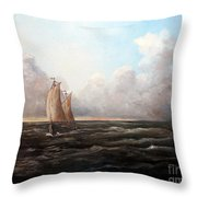 Staying Ahead Of The Weather Throw Pillow