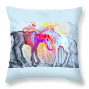 We Will Be Staying Alive Forever And Never Split Up Or Die  Throw Pillow