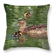 Staying Close To Mom Throw Pillow