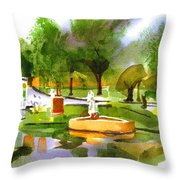 Ste Marie Du Lac In Watercolor IIb Throw Pillow