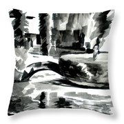 Ste Marie Du Lac Pond And Parish Throw Pillow