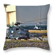 Stealth Air Attack Helicopter Throw Pillow