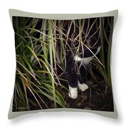 Stealth Cat Throw Pillow
