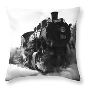Steam And Iron Throw Pillow