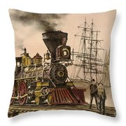Steam And Sail Throw Pillow