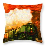 Steam And Sandstone Throw Pillow