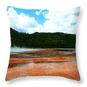 Steam And Trees Throw Pillow