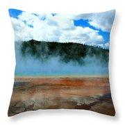 Steam Bath Throw Pillow