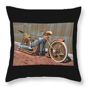 Steam Chopper Throw Pillow