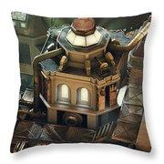 Steam City Throw Pillow