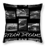 Steam Dreams Throw Pillow by Mike McGlothlen