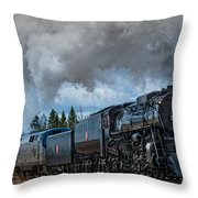 Steam Engine 261 Throw Pillow