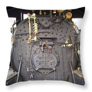 Steam Engine 444 Fire Box And The Controls Throw Pillow