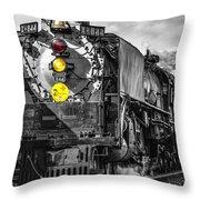 Steam Engine 844 Throw Pillow