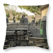 Steam Engine At Cumbres Pass Throw Pillow