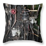 Steam Engine Controls Throw Pillow