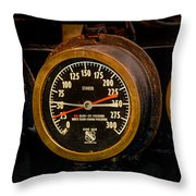 Steam Engine Gauge Throw Pillow